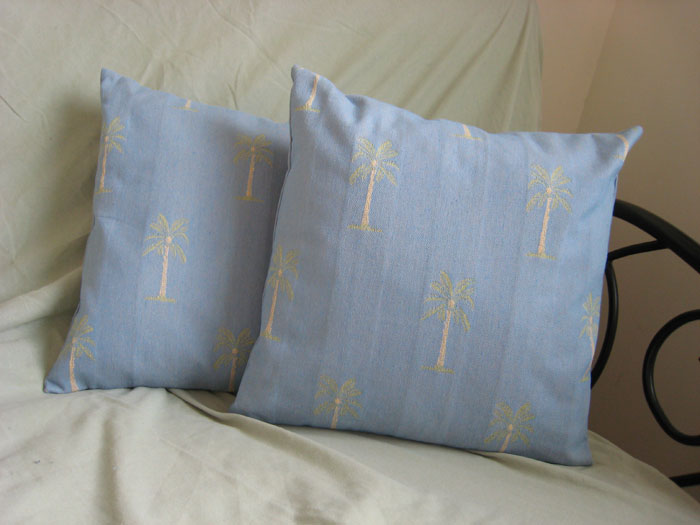 Palm Tree Pillow Covers - Front
