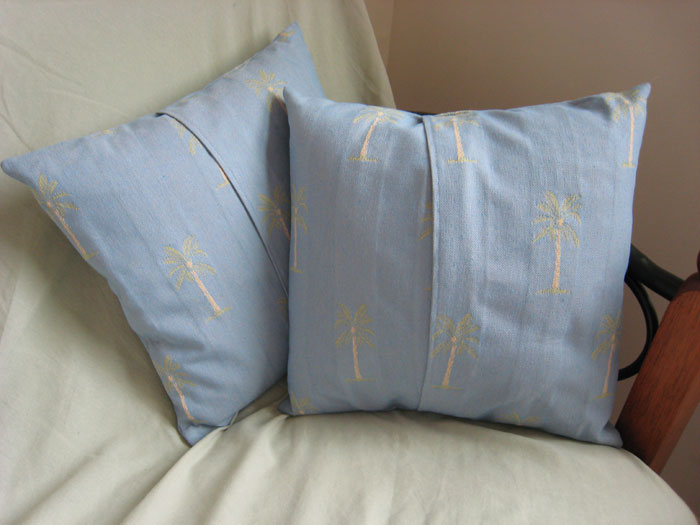 Palm Tree Pillow Covers - Back
