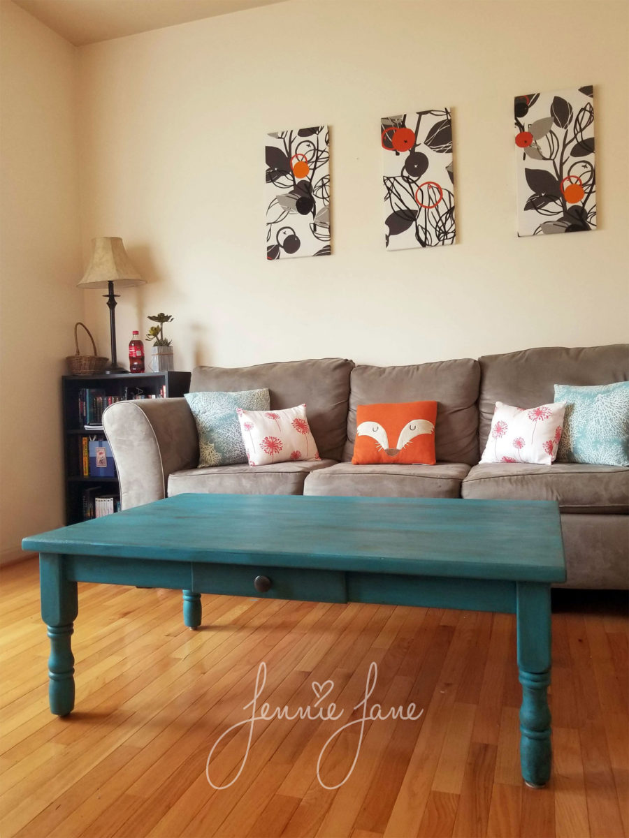 Living room with accent coffee table