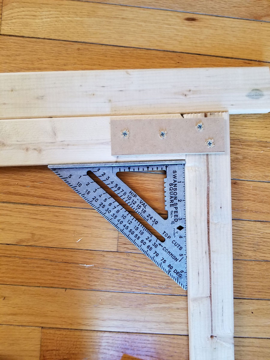 Square corners on furring strips